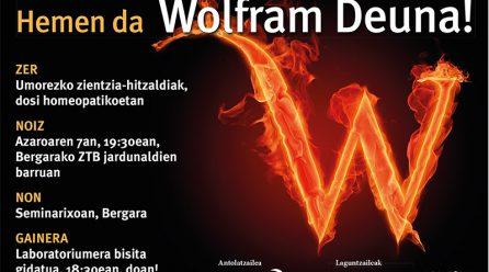 San Wolframio: Monólogos científico-humorísticos