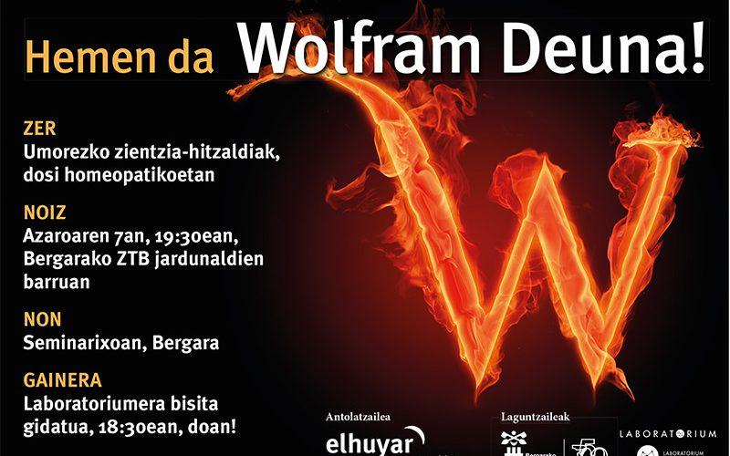Wolfram  Deuna,  zientzialari  eta  zientziazale  umoretsuenen  lurraldea  izan  zen  atzo  Seminarixoa