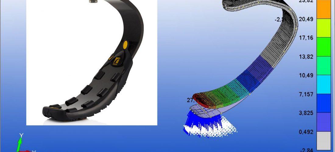 Desarrollo de una prótesis de fibra de carbono para correr