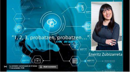 1,2,3,  probatzen,  probatzen…-  Hitzaldia  on  line